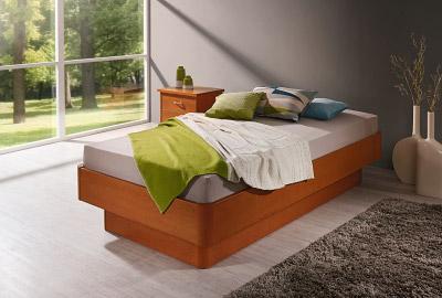 Massivholz Bett Bergamo Natur Schlaf