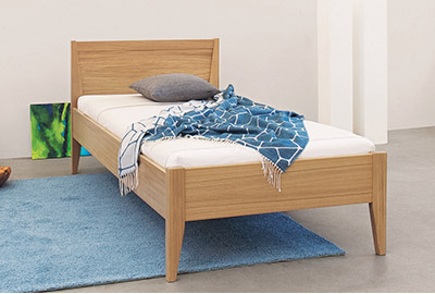 Kombinierbares Bett Caredo Natur Holz