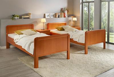 Kombinierbares Bett Duo Natur Holz