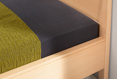 Kombinierbares Bett Natur Holz